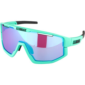 Bliz Fusion M12 Okulary, matt turquoise/begonia with blue multi
